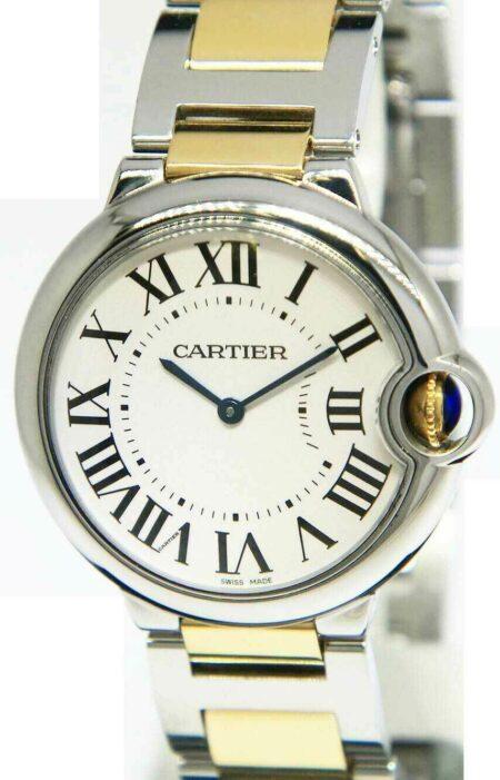 Cartier Ballon Bleu Steel/18k Gold 36mm Quartz Watch Box/Papers 3005 W69008Z3
